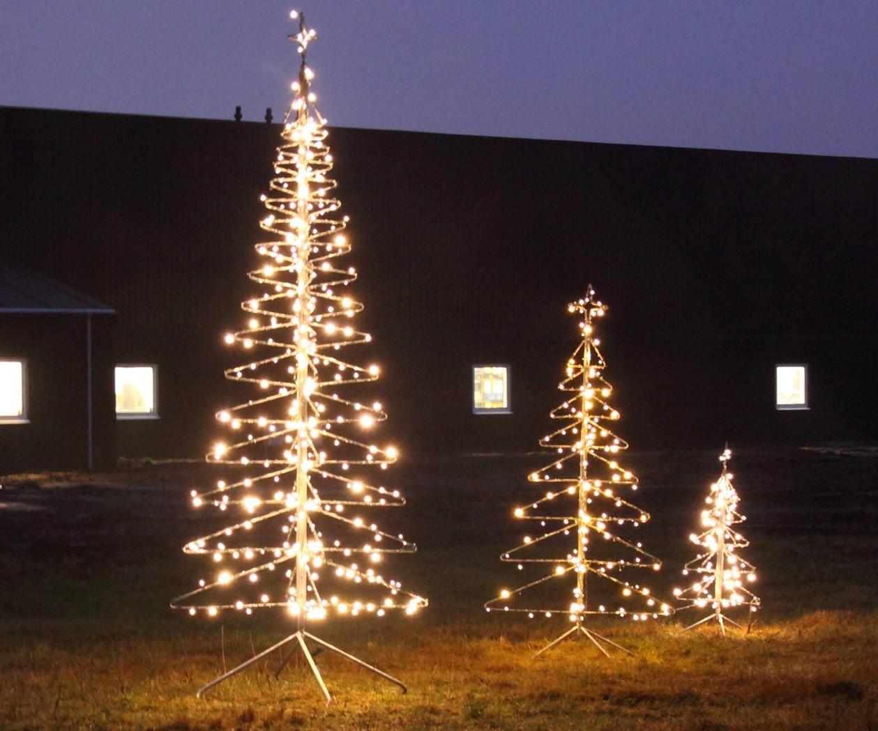 Galvaniseret Stort Juletræ 350 cm