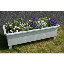 Galvaniseret højbed/blomsterkumme med eller uden hjul