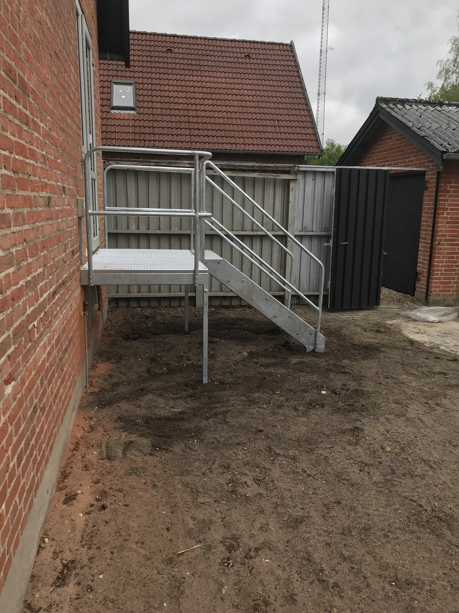 Picture of: Galvaniseret Trappe Med Repo