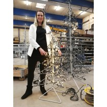 Juletræ 131 cm klar til brug