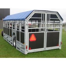 6M Bred Transportvogn